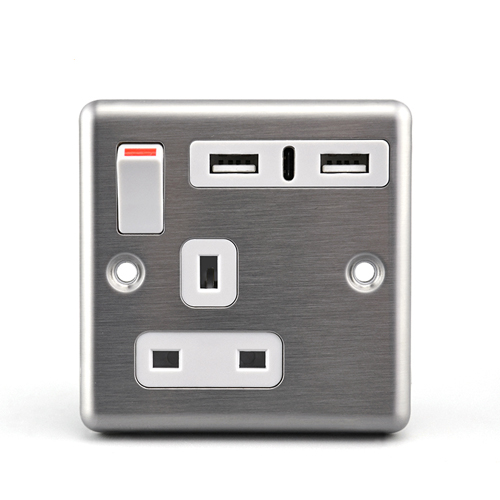 BS Outlets With USB Charger