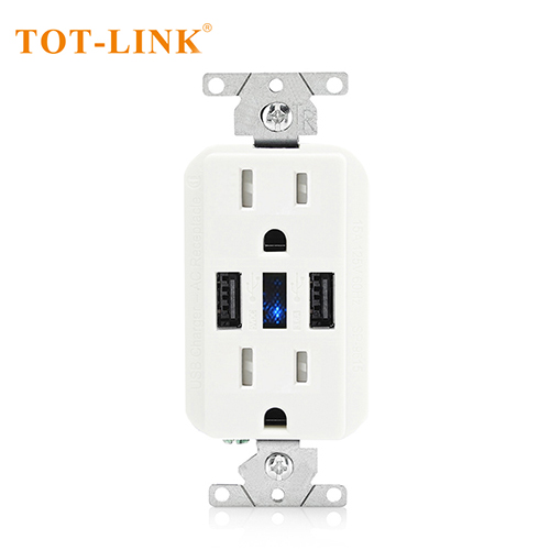 15A TR 2USB 5V3.6A wall outlet white